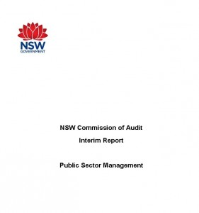 NSW Public Sector Management Interim Report