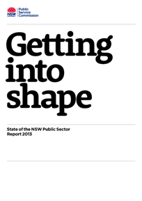 Cover page State of the NSW Public Sector Report 2013 small