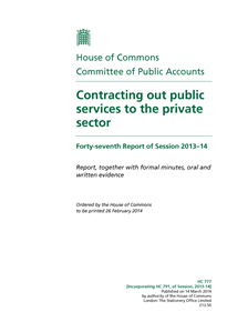 Front Pages from Contracting out public services to the private sector UK small