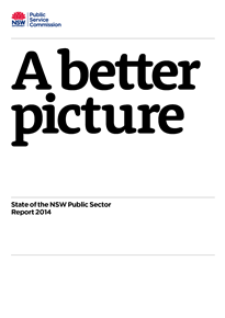 Page 1 from 2014 State of the NSW Public Sector Report medium