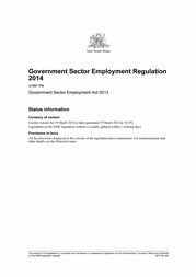Front page of GSE Regulation 2014 small
