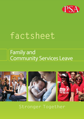 FaCS Leave updated Factsheet 2013 cover medium