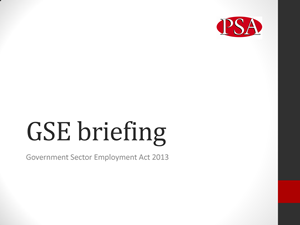 GSE MEMBERS Briefing front