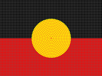 Indigenous flag dot painting small