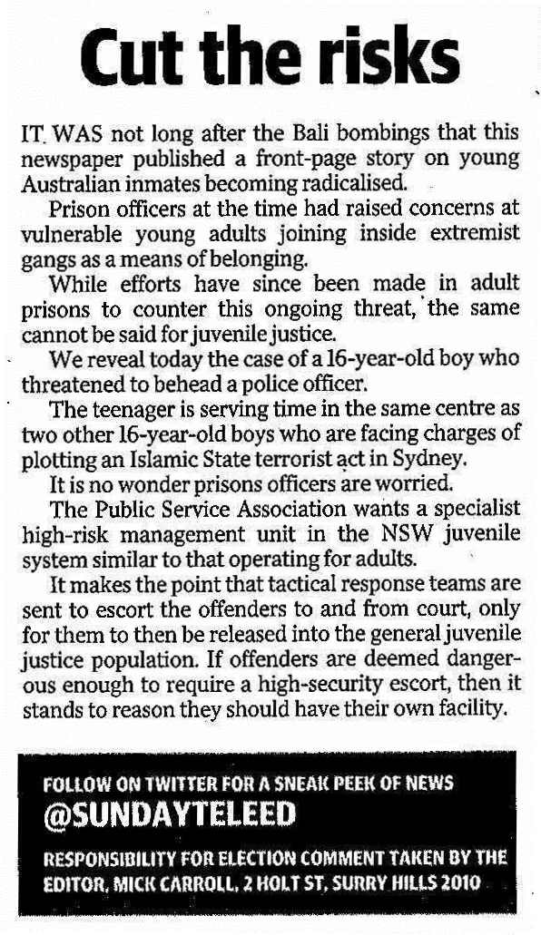 Sun Tele editorial JJ violence - 19 February