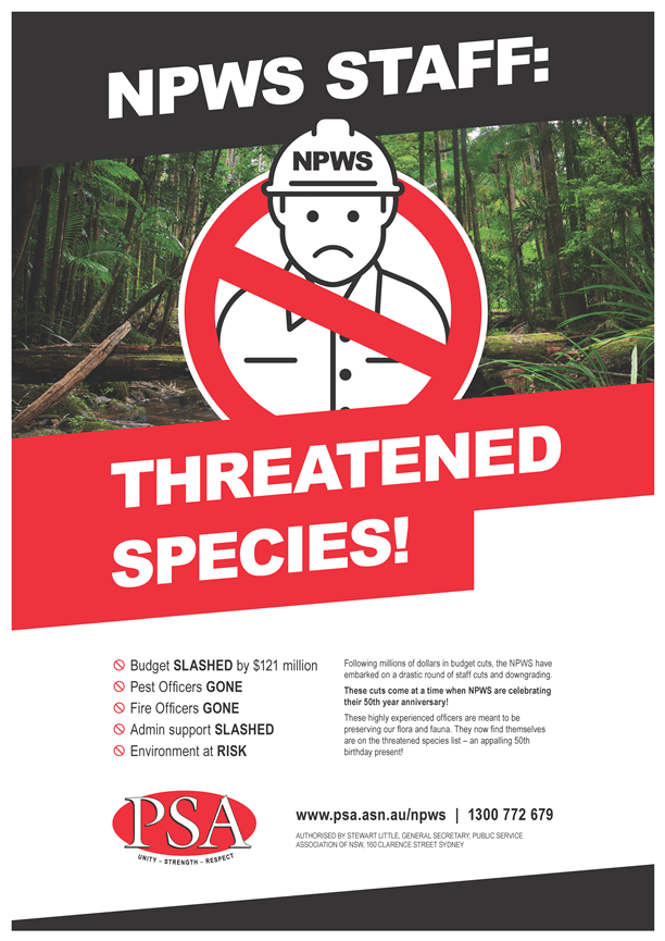 NPWS Threatened Species A3 (3) small
