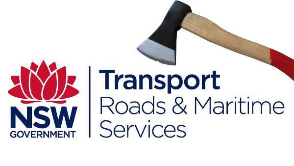Transport Roads Maritime Services Axe banner