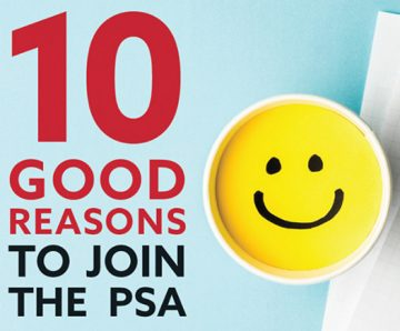 10 GOOD REASONS TO JOIN THE PSA